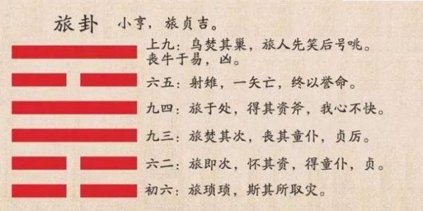 六爻火山旅卦详解完整版,周易64卦第56卦火山旅卦解卦